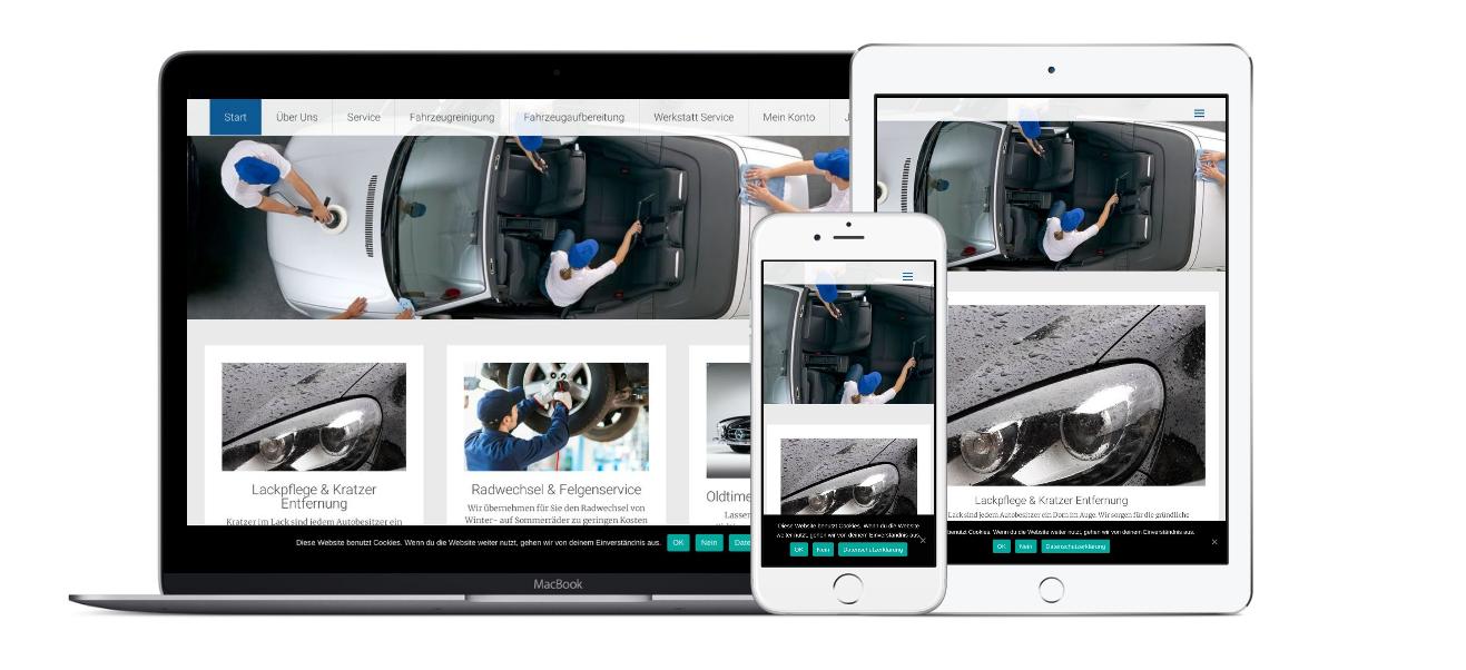 Mobile Fahrzeugreinigung - Jetzt online buchen